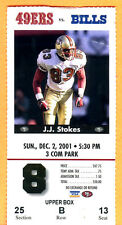 12/2/01...49ERS/BILLS FOOTBALL TICKET STUB