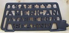 Old Cast Iron 'Safety American Table Co - Reading' Sign Plaque sewing equipment