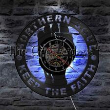 Northern Soul Keep The Faith Led Vinyl Clock Wall Light Color Change Vintage