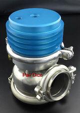 60MM 5 TO 8 PSI External Wastegate Turbo Stainless Steel Dump Valve Blue