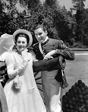 8x10 Print Errol Flynn Olivia De Havilland Santa Fe Trail 1940 #EFOD9