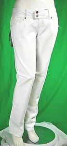 Jeans Donna Pantaloni MET Made in Italy C570 Gamba Dritta Bianco Tg 32