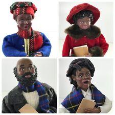 Vintage Christmas Carolers Family caroling Folk Art Figurines Set