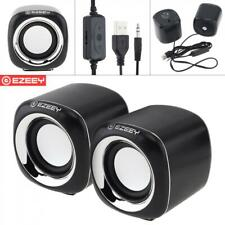 Mini Subwoofer Desktop Small Computer PC Speakers USB Wired Interface 3.5mm