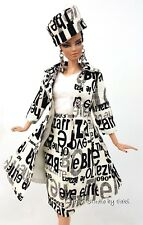 Silkstone Coat Hat Dress Outfit Gown Vintage Style Barbie Fashion Royalty FR