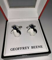 Geoffrey Beene Cufflinks - Penguin With Sparkling Eyes - NEW