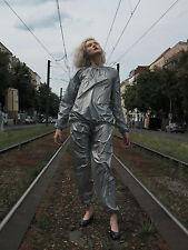 RegenAnzug wasserfest silber Rave 90s TRUE VINTAGE silver suit rainproof sauna
