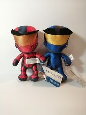 """New HALO Blue and Red Spartan 8"""" Licensed Plush Stuffed Toys"""