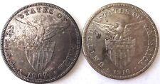 2 Philippines 1 Peso 1903 1910