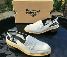 Dr. Martens Romana grey soft buck penny slingback shoes UK 7 EU 41 BNIB RRP 120