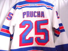 CCM Rangers Prucha White Hockey Jersey Boy Youth L/XL