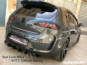 seat leon BTCC diffuser fins/seat leon btcc fins/seat leon btcc bumper diffuser