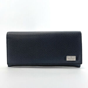 GUCCI purse 352352 leather Navy mens