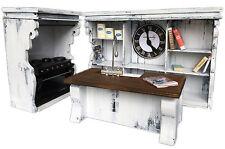 MiniMolly Dollhouse Furniture Kitchen Set WHITE Oven, Shelves & Sink, Cookbooks