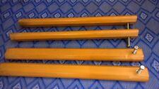 Holzbeine Möbelbein Bettfüße Möbelfüße Tischbeine Holzfüße L. 70 cm