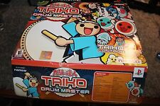 Taiko Drum Master PS2 Playstation 2 Complete Set Game and Drum Sticks Namco