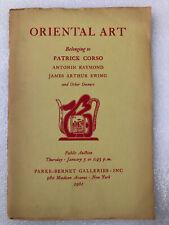 PB Chinese Korea Ceramics Jade Paintings Furniture Luristan Bronzes Catalog 1961