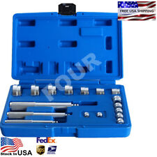 Aluminum Wheel Bearing Race & Seal Bush Driver Set Garage Tool Kit 17PC US Stock