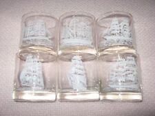 6 Vintage Tall Ships Maryland National Bank Baltimore Tumbler Drinking Glasses