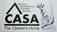 Climbing Association of Southern Arizona Sticker CASA Mountain Goat Climber 5x3