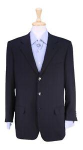 Brioni Nomentano Navy Blue w/ Brioni Logo Buttons Pure Escorial Wool Blazer 40R