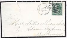 U.S.A.MOURNING COVER 2/1/-- CHICAGO - BALTIMORE;DUPLEX 2 CANCEL.