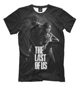 The last of us tee - black color t-shirt game style