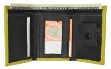 GENUINE LEATHER KIDS SMALL TRIFOLD/MONEY WALLET BY MARSHAL YELLOW