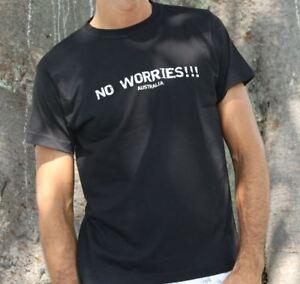 Australia Unisex t-shirt no worries Slogan Aussie slang T-Shirt top tee gifts