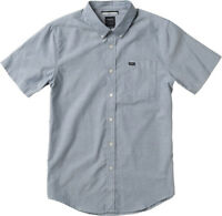NWT RVCA That'll Do Oxford Shirt SS - Distant Blue/White #M3514TDS