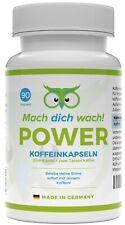 Koffein Kapseln / Tabletten - 200mg Pulver - aus Deutschland - Mach dich wach!