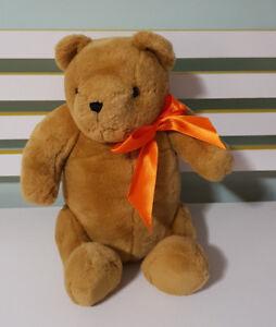Winnie The Pooh Teddy Bear Older Style Orange Bow Jointed Teddy Bear 42cm!