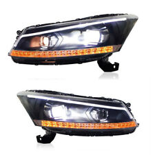 LED Headlights DRL Projector For Honda Accord 2008-2012 Dual Beam Front Lamps