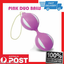 Uni Sex Exercise PINK Duo Balls ~ Smart Balls Kegel Geisha Ben Wa Smart Balls