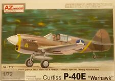AZ Model 1/72 Curtiss P-40E Warhawk Fighter Model Kit 7410 NIB