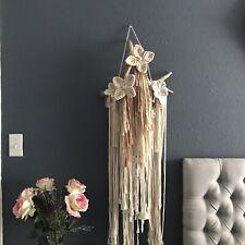 Macrame Antler wall Hanging Chic home decor..