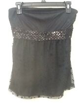 Express Juniors Size S Strapless Club Date Night Top in Black w/Sequins - EUC