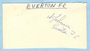 ALBERT JOHNSON 1940's > EVERTON, CHESTERFIELD etc HAND-SIGNED ALBUM PAGE