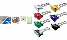 146 MAUL Foldbackklammern Büroklammern Klammern Foldback diverse Größen Stahl!
