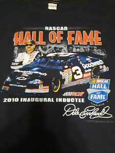 NASCAR Dale Earnhardt Sr Hall of Fame 2010 Inaugural Inductee T Shirt Mens 3XL