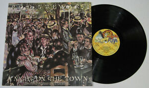UK Pressing ROD STEWART A Night On The Town LP Record