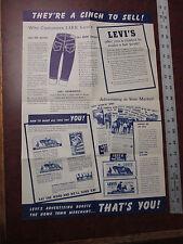 R A R E Vintage cinch LEVI'S jeans advertisement department  Levi promo