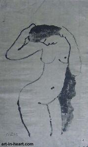 Nude  Orig  rice paper painting Pham Minh Hai  b1953   VUFA1978