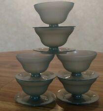 Vintage Set of 6 Matching Tupperware Dessert Bowls Pudding Cups No Lids