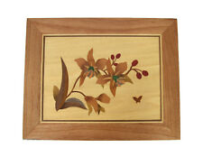Orchid Intarsia wood inlay Marquetry Picture, wall home decor PWS04
