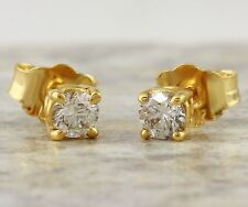 .30Ct Natural VS Diamond 14K Solid Yellow Gold Stud Earrings