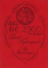 Alfa Romeo Vetture 6 C 2500 Shop Manual Livre Catalogue papier voiture