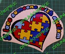 IO Amo una persona con autismo Cuore Auto Adesivo Autismo Consapevolezza FUNNY disabilità