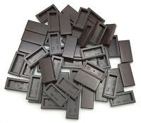 LEGO 50 NEW DARK BROWN 1 X 2 TILES FLAT SMOOTH PIECES PARTS
