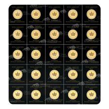 25 gram (25 x 1 g) 2020 MapleGram25 Sheet of Gold Coins